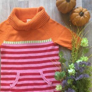 Gymboree Orange and Pink Sweater Dress, Size 8